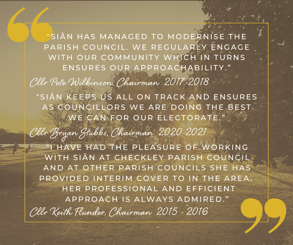 Testimonial from Checkley Parish Council Councillors